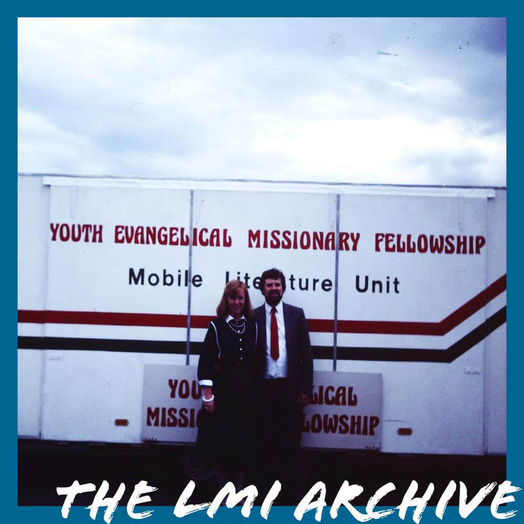 The YEMF Mobile Literature Unit travelled throughout Ireland in the 1980's and 1990's