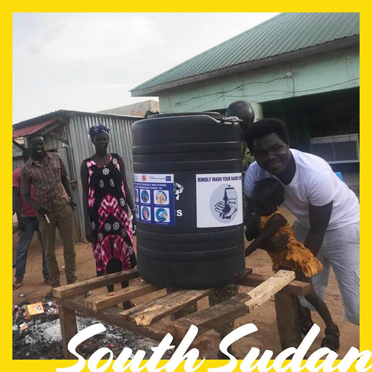 LMI Covid-19 International Relief Campaign providing water tanks in South Sudan for the local community