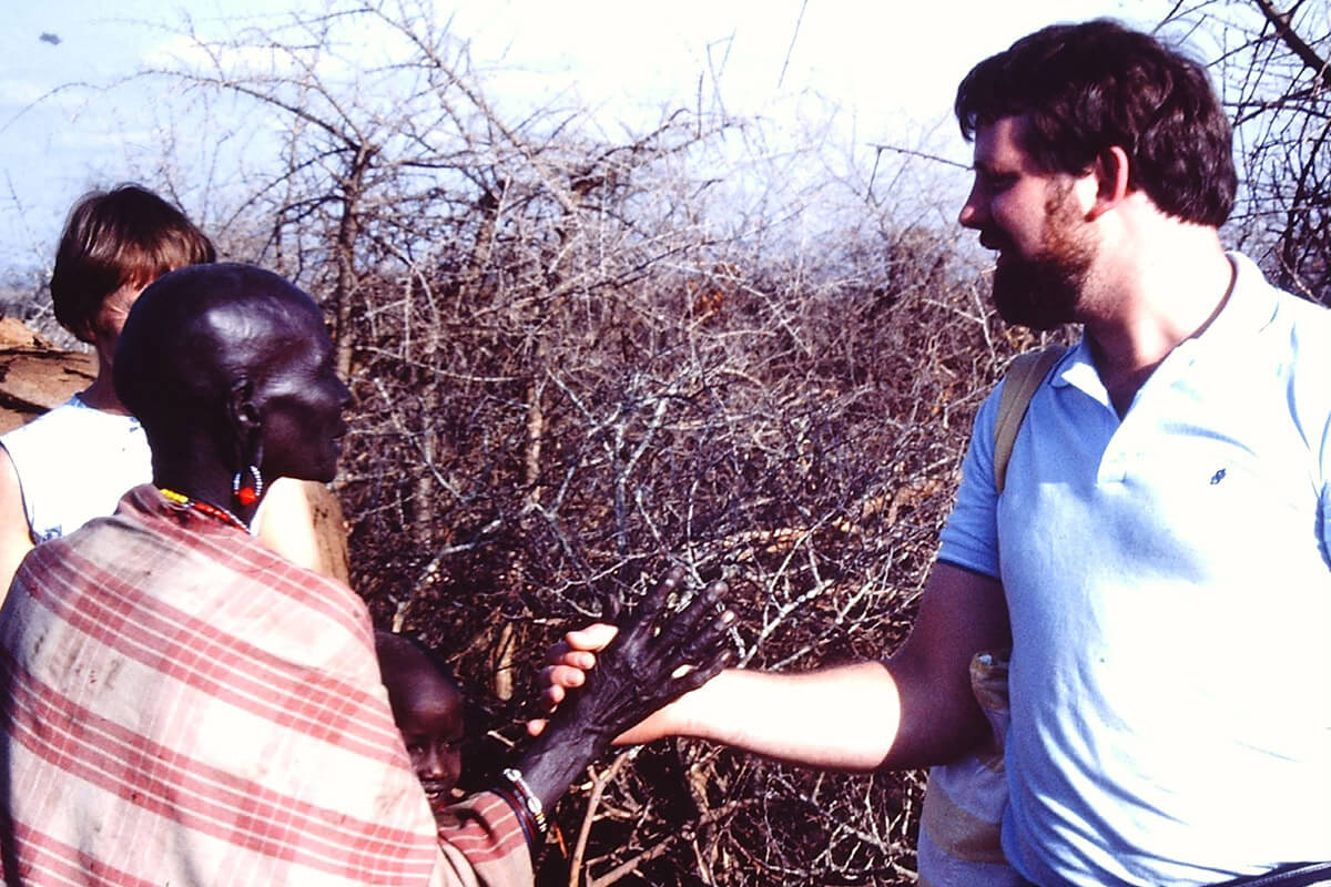 LMI Founder and Director Thomas McClean in Kenya in 1984 during an Overseas Mission Trip.