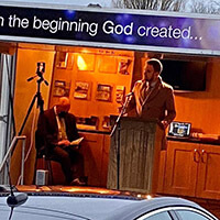 Danny Roberts spoke to the wonderful brothers and sisters at Antrim Free Presbyterian Church's drive-in service in January 2021.